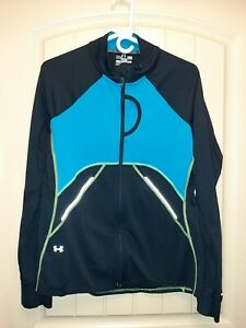 Under Armour Womens Semi Fitted Active Jacket Full Zip Size L back pocket $10.75