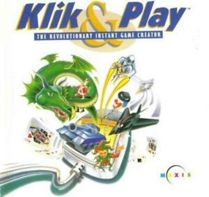 Klik amp; Play: Revolutionary Instant Game Creator PC CD build own video games tool