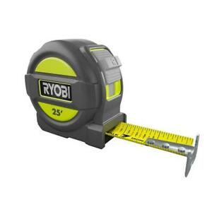 25 Foot Tape Measure with Overmold and Wireform Belt Clip $8.95