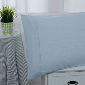 Microfiber Solid 3 Pc Twin Sheet Set Light Blue Blue Twin