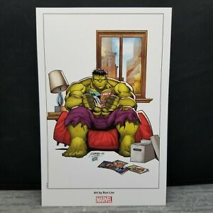 Marvels Back in Action Ron Lim 8 x 10 Lithograph Art Hulk $3.99