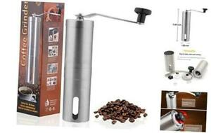 ExquiFirm Manual coffee grinder, stainless steel multi-function hand grinding sp
