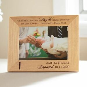 Personalized Engraved Baptism Picture Frame: Baptism Gift for Baby
