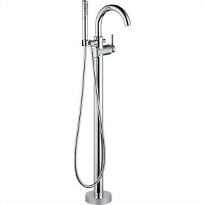 Delta Trinsic Chrome Floor Mount Freestanding Tub Filler Faucet with Valve D932V  $1,147.61