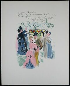 RAOUL DUFY Lithograph A Jean Renoir 1965 printed by Mourlot Beautiful $50.00