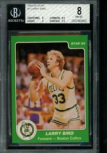 1984 85 Star #1 Larry Bird BGS 8