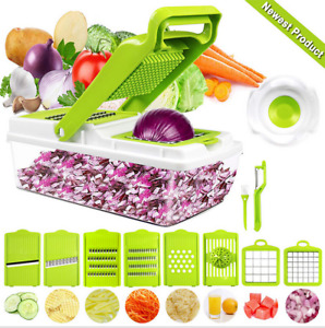 9 in 1 Vegetable & Small Food Chopper Onion Garlic Fruit & Cheese Manual Cutter