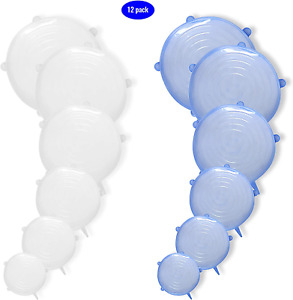 Silicone Flexible Stretch Lids  Stretchable Silicon Cover Lid to Fit Multiple C