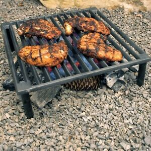 BBQ Grill Charcoal Portable Barbecue Tuscan Outdoor Cast Iron Camping Grate 14