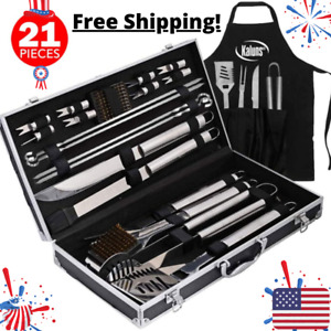 Professional Bbq Accessories Kit Accessories 8k Set (21 Piece) For Grilling PRO