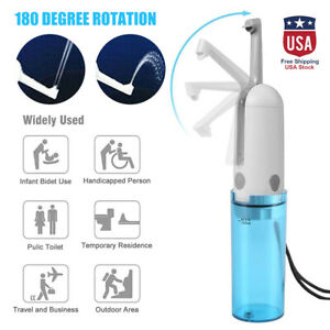Portable Electric Handheld Bidet Sprayer Travel Bathroom Toilet Sprayer Clean US