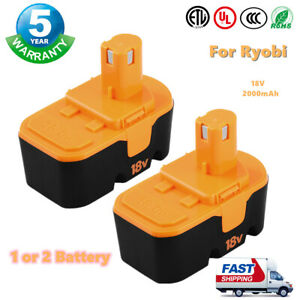 2 pack Replace For Ryobi 18V One+ PLUS P100 P101 ABP1801 ABP1803 BPP1820 Battery