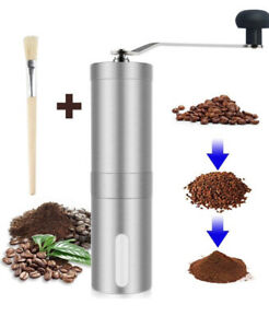 Stainless Steel Ceramic Manual Coffee Grinder Portable Hand Crank Bean Mill