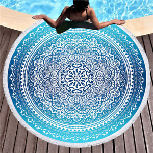 Soft Beach Bath Towel 150CM Mandala Tapestry Round Large Wall Hanging Bohemian