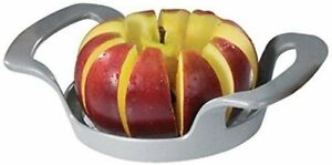 Apple Slicer and Corer 10 Slices Heavy Duty Stainless Steel Grey 1 Piece New
