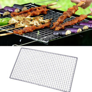 US Stainless Steel BBQ Grill Grate Grid Mesh Rack Picnic Cooking Replacement Net