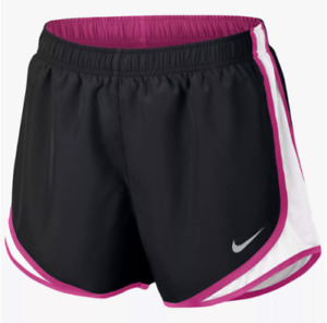 Nike Dry Tempo 3 Running Athletic Gym Shorts Women's sz L XL Black Pink White $21.95