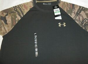 Under Armour Men's Ridge Reaper 3 4 Sleeve Baseball Shirt, Black Camo, Large,$35 $24.95