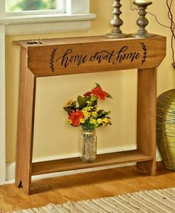 Vintage Country Style Wood Console Tables with Shelf Sign Home Sweet Home