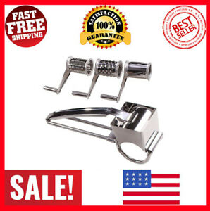 Rotary Cheese Grater - LOVKITCHEN Cheese Cutter Slicer Shredder with 3 Interchan