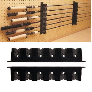 Horizontal Boat Rod Rack Fishing Holder Wall Mount Storage Pole Stand Hold Rods