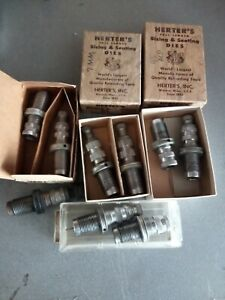 Lot of 9 Herter's Sizer & Seater dies