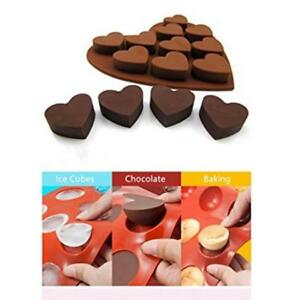 Heart Shape Candy Cake Chocolate Mould 3D 8pcs Fondant Mold Silicone Sugar FM