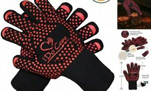 iDoCare Heat Resistant Oven Gloves, Cooking Gloves, Baking, Oven