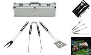 Home Solutions Grill Tools Set with Barbecue Accessories - Stainless Steel BBQ U