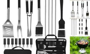 POLIGO BBQ Accessories Set Stainless Steel Barbecue Grilling Utensils Kit Set wi