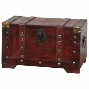 Antique Style Small Wooden Trunk Antique Cherry Antique Cherry Traditional Ca