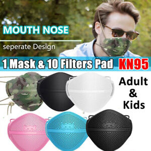 Adult Kid#x27;s Protection Separate Mouth amp; Nose Face Mask Carbon Filters Pad Purify