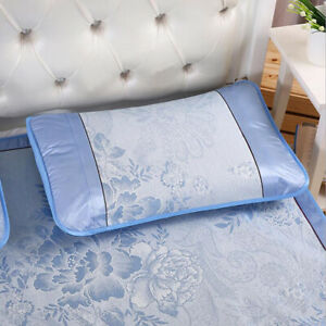 1Pc Bed Pillow Cover Pillow Cover Ice Silk Mat Household Summer Cushion Cover FM $7.00