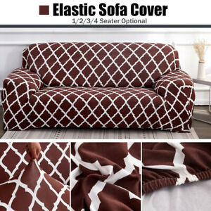 1 2 3 4 Seater Universal Sofa Cover Chair Couch Seat Slipcovers Elastic Stretch