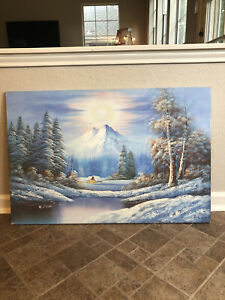 Winter Forest Painting