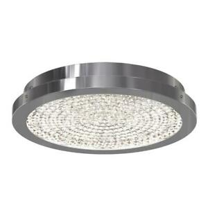 13.5 in. 1-Light Chrome Integrated LED Flush Mount, With Premium Glass Beads
