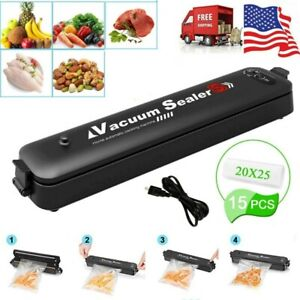 Vacuum Sealer Machine Automatic Air Sealing System For Food Storage with 15 Bags