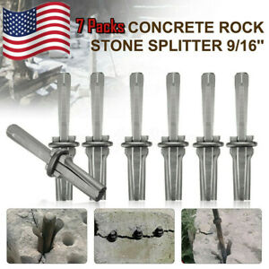 7x 9 16quot; Wedgeamp;Feather Shims Concrete Marble Granite Rock Stone Splitting Tool $21.35