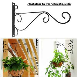 European Style Balcony Flower Pot Wrought Iron Garden Wall-Mounted Hanging Hooks