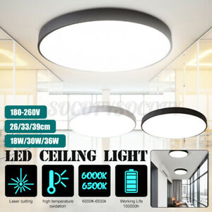 LED Ceiling Light Flush Mount Round Home Fixture Lamp Kitchen Bedroom