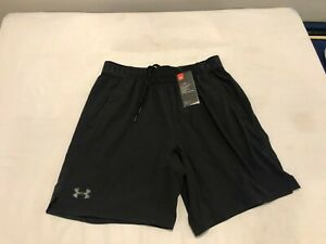 NWT $44.99 Under Armour Mens HG Elevated Woven Shorts Black Size LARGE $12.50
