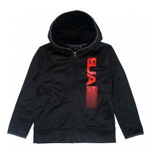 Under Armour Boys Black & Red Zip Up Logo Hoodie Size 5 $12.99