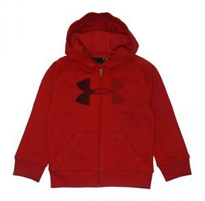 Under Armour Boys Red & Black Zip Up Hoodie Size 5 $12.99