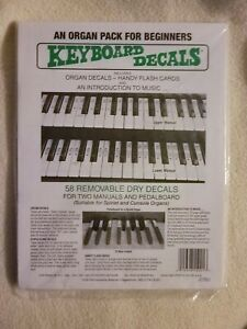 An Organ Pack for Beginners: Keyboard Decals Two Manuals and Pedalboard Decal