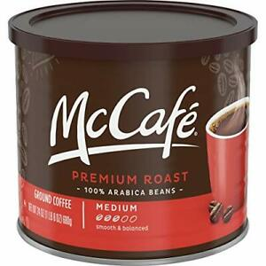 McDonalds Premium Medium Roast Smooth Balanced Ground Coffee (24oz Tin)