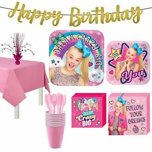 JoJo Siwa Party Supplies for 8 Guests Girls Birthday Party Kit Tableware Banner $26.39