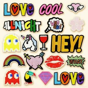 Assorted Embroidered Patches Sewing Applique Iron On Badge Cute Clothing Sticker