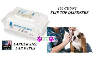 100 ct Dispenser Top Performance ProEar EAR CLEANSING WIPES DOG CATREDUCE ODOR $15.19