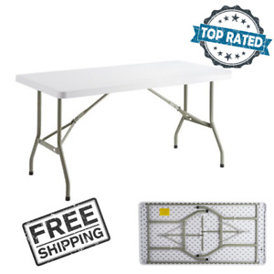 30 x 60 Heavy Duty Granite White Plastic Folding Table Party Catering Buffet New