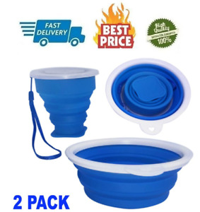 Typhon East Silicone Collapsible Bowl and Cup Set for Camping and Travel Two